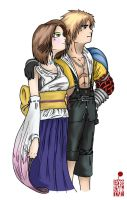 Tidus And Yuna by BloodyMoogle