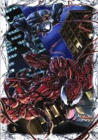 Carnage vs Venom by FallenAngel-pen