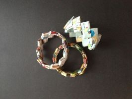 Bracelet, braided paper 02 by SecondChanceCrafts