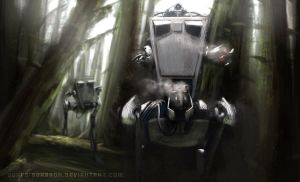 AT-ST Patrol by Surfsideaaron