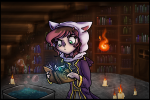 Thaumcraft Mage Training by Purrlstar