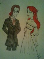 Butler Grell and Rose Burnett by GothShelle