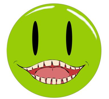 Biting Pear Smiley Face by fdnbgonds