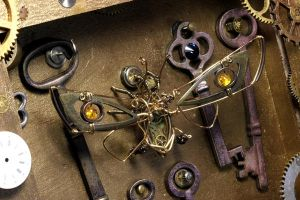 Steampunk Cicada Frame 2 by CatherinetteRings