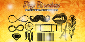 +10 Brushes/Pinceles Hipster by PilarEditions9