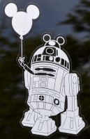 R2-D2 with Mickey Mouse ears Balloon June 10, 2015 by ENT2PRI9SE