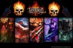 League of Legends Pentakill Wallpaper by ShinigamiChoop