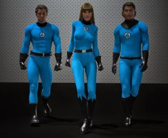 Fantastic four textures for Bodysuit for M4 and V4 by hiram67
