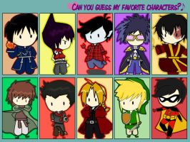 Guess my favorite Character by hermi-black