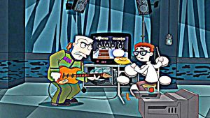 PnF playing guitar hero by geraldCullenBlack