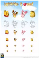 Winnie Icons by chinapeng