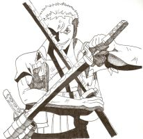 Zoro Ready For Battle by brsurvivor