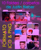 Justin Bieber's Folders by AreliCyrusBieber