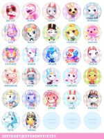 ACNL buttons by justduet