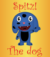 Spitz the dog by Wopter