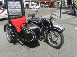 Motorcycle with sidecar by Dhencod