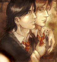 Moony+Padfoot by Linnpuzzle