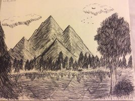 Beautiful Mountains by Doodlexdoodles
