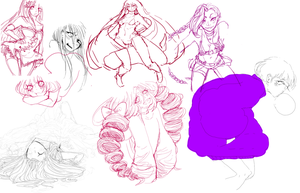 Some rejects- sketchdump by Mieoi