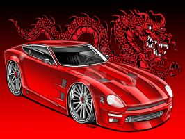 240Z with Dragon by Britt8m