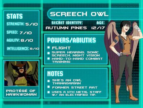 Young Justice: Screech Owl by Sherlocks2ndBlogger