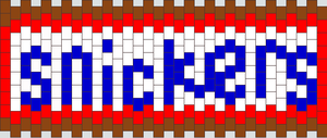 snickers kandi pattern by ninjalove134