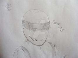 The Stig Drawing by TopGearCRAZY