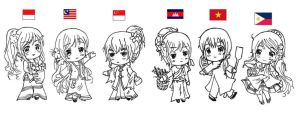 [APH] ASEAN Girls by Dearestchan