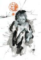 weeping child, expressive 9 by bananalicious
