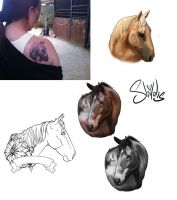 Commissioned Tattoo Designs by shilohs