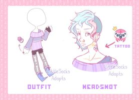 [AUCTION] Pastel Goth Boy sjadkhfaskjdhf by LittleSocksAdopts