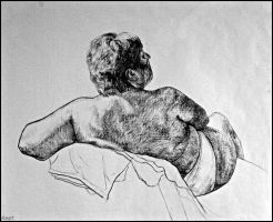 Drawing- Figure- Woman IV. by Ennete