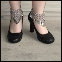 Chainmaille Ankle Cuffs by redpandachainmail