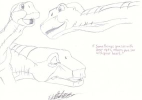 Land Before Time Sketches by HaloSon