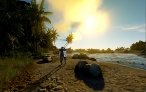 ME3: A stroll on the beach by Lootra