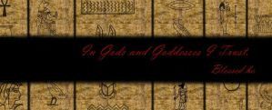 In Gods and Goddesses I Trust FaceBook Banner by RavenHeartBathory