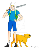 Adventure Time: Finn and Jake by ClarissaHenson