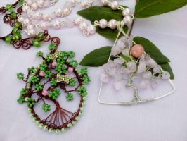 Spring tree necklace by Mirtus63