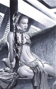 Slave Leia by ChristopherStevens