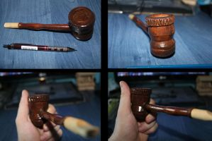 Plum wood pipe by MatesLaurentiu