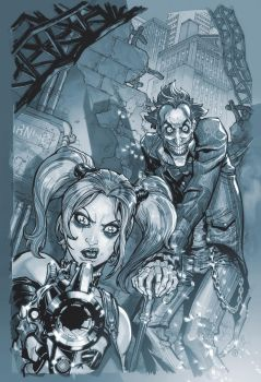 Arkham City.3.cover.greys by Chuckdee