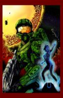 Master Chief And Cortana_Tonykordos Lineart by CJRogue