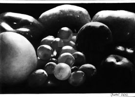 Still life - Fruits [Graphite][A4] by TarcDnB