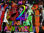 my 2 year DA anniversary! by thadesoben