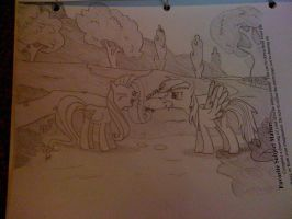 Fluttershy and RD yay scene by ProNorst