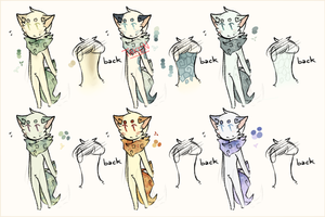 Foocat Batch: 2 || Sea n' Galaxies by sylveonprince