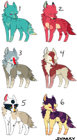 canine adoptables - - - [ open ] by snarkbait