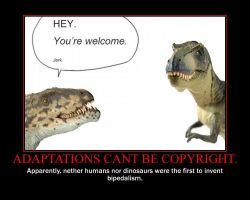 Adaptations Cant be Copyright. by TheArchosaurQueen