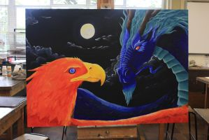 The Dragon and the Phoenix by Axelroxsox