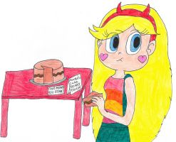 Star Steals Marco's cake by EeveeFanSparkle